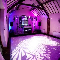 Ibiza themed wedding disco